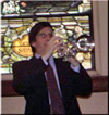 trumpet performing in church